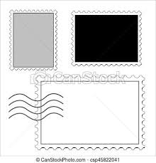 Stamps Template Postage Stamps