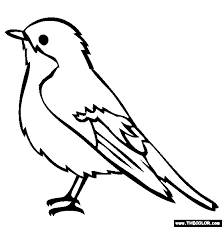 coloring page of a bird pied flycatcher coloring page coloring page of a bird bird coloring pages tryonshorts com on bird printable coloring sheet