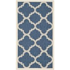 safavieh courtyard navy indoor outdoor rug runner 2 7