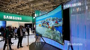 samsung tv 90 inch. samsung\u0027s 105-inch uhd tv is huge and bendable. samsung tv 90 inch l