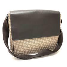 dunhill d eight messenger bag shoulder bag brown canvas leather reebonz australia