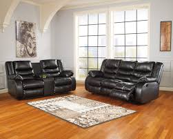 Ashley Furniture Linebacker DuraBlend Black Reclining Living Room Set A