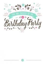 Free Printable Birthday Invitation Templates For Kids Free Printable Girl Birthday Invitations Flat Floral Free Printable