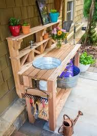 garden sinks. How To Make A Gardener\u0027s Potting Bench. Outdoor SinksOutdoor Garden Sinks