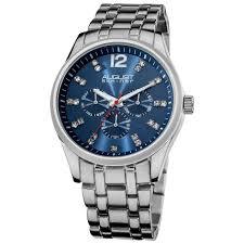 steiner as8068bu crystal markers sunray dial stainless steiner as8068bu crystal markers sunray dial stainless steel mens watch