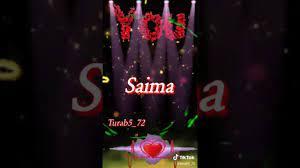 Saima name whatsapp status - YouTube