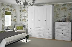 Classic Bedroom Furniture White Woodgrain