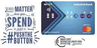 indusind bank net credit card