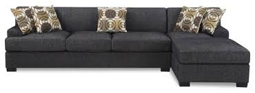 modern 2piece reversible sectional sofa chaise with accent pillows dark gray dark grey sectional b76