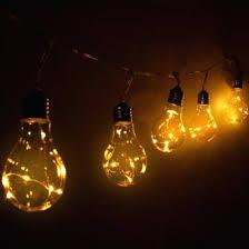 Solar Bulb String Lights 5 Light Bulbs Warm White Nitebulbs