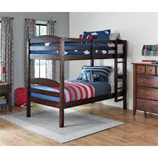 better homes gardens leighton solid wood twin over twin bunk bed mocha