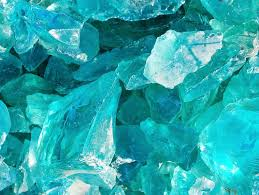 3 pounds 5 cullet glass chunks aqua sea crystal blue color factory slag rock