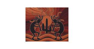 on southwestern wood wall art with desert sun cactus kokopelli rustic southwest wood wall art zazzle