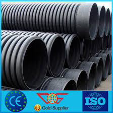 drainage pipe hdpe steel belt reinforced corrugated pipe