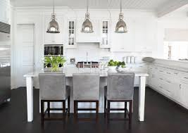 island and bar stools white and grey Google Search