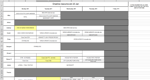 Solving The Resource Scheduling Problem Scheduling Spreadsheet