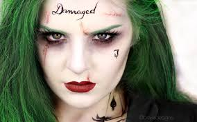 the joker female version squad jared leto makeup tutorial you