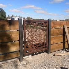 outdoor enterance gate metal custom art