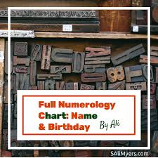 Full Numerology Chart Core Numbers Name Birthday