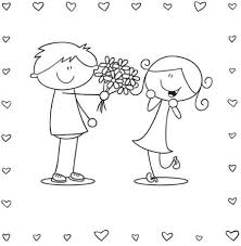 Small Picture Boy And Girl Valentine Coloring Page Valentine Coloring pages of