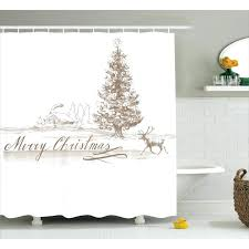 christmas shower curtain sets Christmas Shower Curtain Sets