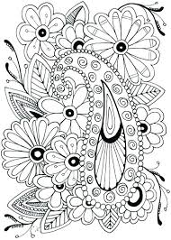 Coloring Pages Of Flowers And Butterflies Mycoloring