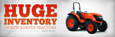 huge inventory of kubota tractors