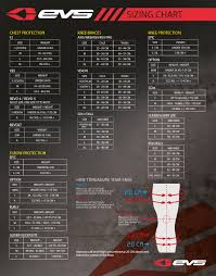 Evs Knee Brace Size Chart Evs Knee Brace Size Chart Best Picture Of Chart Anyimage Org