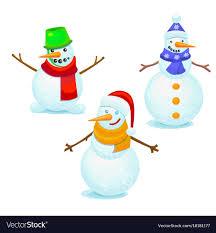 Colorful Snowmen Set
