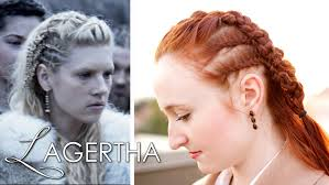 Viking Hairstyle Female vikings hair tutorial lagertha as earl youtube 2079 by wearticles.com
