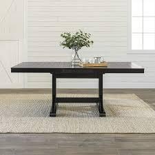 Amazoncom We Furniture Azw60wbl Dining Table 60 77 Black Tables