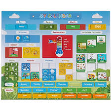 Date Chart For Classroom Simply Magic Kids Calendar My First Daily Magnetic Calendar For Kids Amazing Preschool Learning Toys For Toddlers Preschool Classroom Calendar