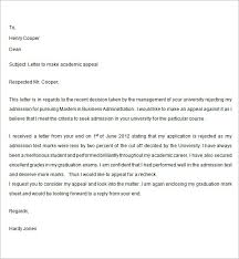 Sample Appeal Letter 40 Free Documents Download In Word Impressive Academic Appeal Letter