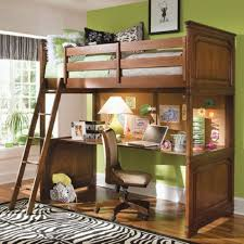 Antique Kids Loft Bunk Bed With Ladder And Ample Desk Underneath  For Bunk  Bed With
