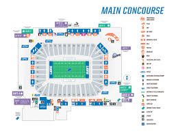 Lions Stadium Seating Chart Explicit Detroit Lions Seating Chart With Seat Numbers 2019