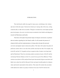 thesis statement for arab i conflict original content phd thesis dissertation ncsu