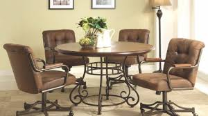 dining room chairs with arms. Rolling Dining Room Chairs Popular Sets With Wheels On 28 Images Regard To 22 Arms