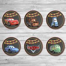 Disney Cars Cupcake Toppers Chalkboard Cars Stickers Disney Cars