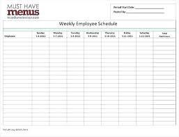 Blank Schedule Hour Employee Schedule Te Work Excel Blank Shift By Template
