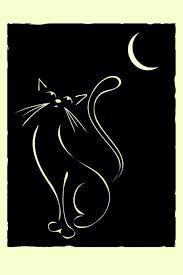elegant illustration of a cat inspired by lautrec and art deco art deco inspired pinterest