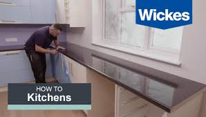 Wickes Kitchen Furniture How To Fit A Kitchen Worktop With Wickes Youtube