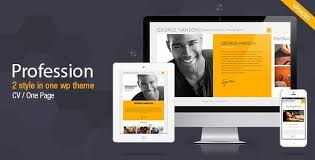 Download Free Profession V2 9 4 One Page Cv Resume Theme