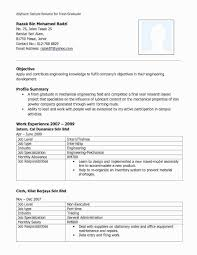 Fresher Engineere Templates Sample Format For Fresh