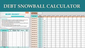 Debt Snowball Calculator Digital Excel Planner Spreadsheet