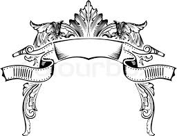 antique picture frames vector. Antique Half Frame Engraving, Scalable And Editable Vector Illustration, Picture Frames