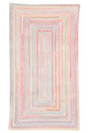 pink baby s breath braided chenille rug cottage home