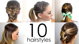 Hair Style For Medium Hair 10 quick & easy everyday hairstyles in 5 minutes youtube 7076 by wearticles.com