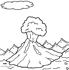 volcano coloring page printable pages for kids eruption diagram