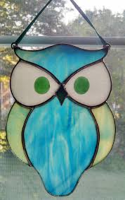 owl stained glass patterns designs