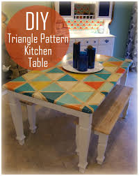 How To: DIY Triangle Pattern Kitchen Tabletop